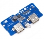 Модуль для Power Bank зарядное устройство с двойным USB 5В 2*2.0A для 1-6 шт аккумуляторов 18650 с LED-индикацией, 69*32мм