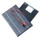 Поликристаллическая солнечная батарея 18В  0.22А  4.2Вт, размер 200 х 130 х 2 мм, с проводами
