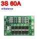 Контроллер заряда разряда PCM BMS 3S max 60A 12.6В для 3 Li-Ion аккумуляторов с балансиром, rev2.3