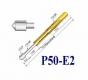 Пружинный контакт-зонд P50-E2, (16.55мм, диаметр 0.68мм / 0.90мм, давление пружины 75г)