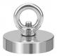 Неодимовый магнит мощный с кольцом, диаметр 24мм, грузоподъемность 12кг