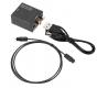 Преобразователь цифрового в аналоговый аудио сигнал, вход  Toslink/RCA, выход стерео RCA, 24-бит DAC S/PDIF декодер до 96кГц