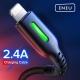 Кабель USB Lightning 8pin - USB 1м, максимальный ток 3А, защите от изломов, INIU, для Apple iPhone Ipad