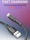 Кабель micro USB - USB 15 1м, максимальный ток 3А, с защитой от изломов, USLION