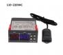 Цифровой регулятор температуры и влажности STC-3028 с датчиком, -20°C +80°C, влажность 0-100%RH, 110 ~ 240В два реле 10A