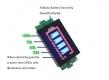 Индикатор емкости LiPo Li-ion аккумуляторов из 6 ячеек 6S 19.8В - 25.2В зеленый дисплей