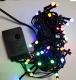 Новогодняя гирлянда светодиодная линейная LED-100 (50 светодиодов 5мм прозрачный мультицвет 8 режимов), длина 5.5 метров, тёмный провод, 220В