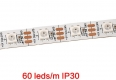 Гибкая светодиодная лента SMD 5050 RGB WS2812B 60 светодиодов/метр, 5В RGB, IP30, белая подложка
