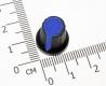 Ручка из пластика синияя (одноместные, двухместные потенциометры, высокое качество)