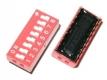 Тумблер 8 8P 2,54 мм шаг DIP-переключателя (красный)