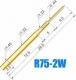Гнездо (гильза) для пружинного контакт-зонда R75-2W, (26.5мм, сечение контакта 0.64мм, длина контакта 9мм)