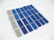 Монокристаллическая кремневая пластина для солнечных батарей 78 х 19 мм, 0.5В 0.5А 0.25Вт