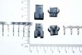 SM-4P Вилка + разъем с замком (папа + мама) + металлические контакты под провод, шаг 2.54 мм