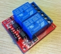 Модуль реле 2-х канальный для Arduino (с оптронной изоляцией 5V,hight level trigger)
